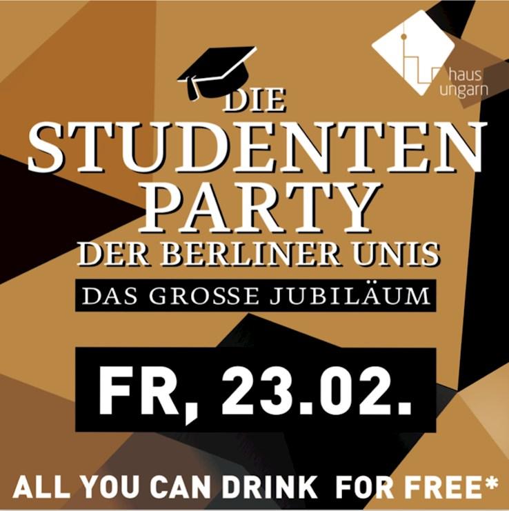 Haus Ungarn 23.02.2018 Die Studentenparty der Berliner Unis - Das große Jubiläum