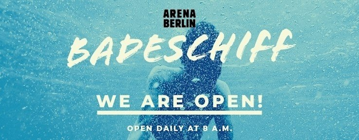 Arena Badeschiff Berlin Eventflyer #1 vom 06.08.2021