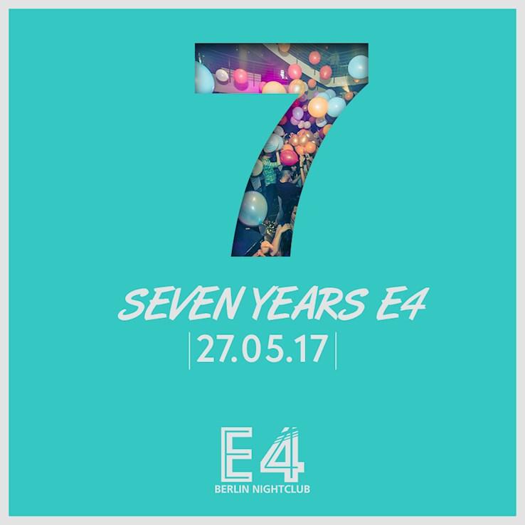 E4 27.05.2017 7 Jahre E4 Club Berlin