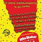 Kalkscheune Berlin Ma Baker Party 25 Years