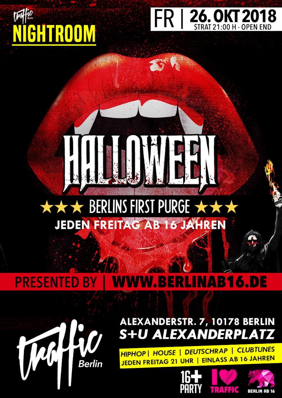 Traffic Berlin Nightroom | #Halloween Berlins First Purge
