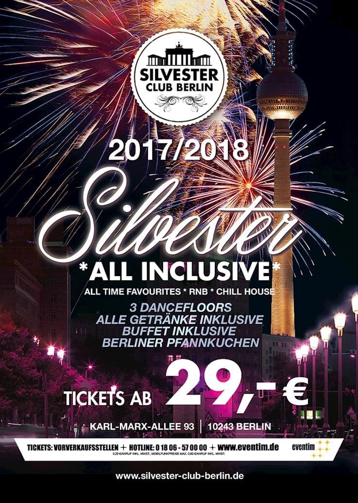 Silvester Club Berlin Eventflyer #1 vom 31.12.2017