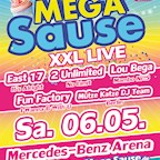 Mercedes Benz Arena Berlin 7 Jahre Mega Sause – 5 Live Acts aus den 90ern – 8 Stunden Party