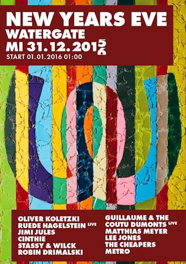 Watergate Berlin Eventflyer #1 vom 31.12.2015