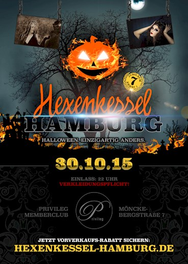 Privileg Hamburg Eventflyer #1 vom 30.10.2015