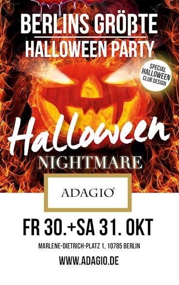 Adagio Berlin Eventflyer #1 vom 31.10.2015