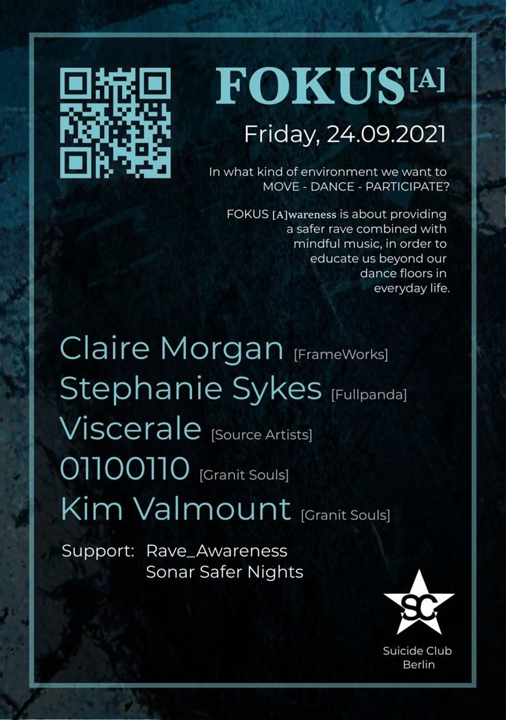 Suicide Club 24.09.2021 Fokus [A] // Claire Morgan, Stephanie Sykes, Viscerale, Kim Valmount, 01100110