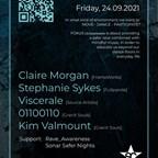 Suicide Club Berlin Fokus [A] // Claire Morgan, Stephanie Sykes, Viscerale, Kim Valmount, 01100110