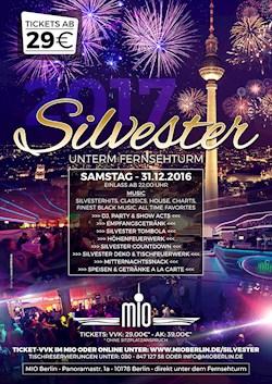 MIO Berlin Die Silvesterparty des Jahres direkt unter dem Berliner Fernsehturm