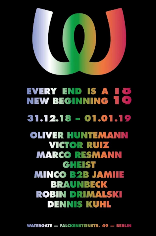 Watergate Berlin Eventflyer #1 vom 31.12.2018