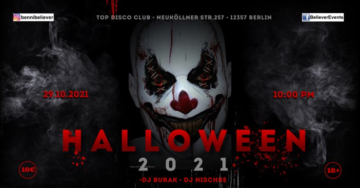 Top Disco Berlin Eventflyer #1 vom 29.10.2021