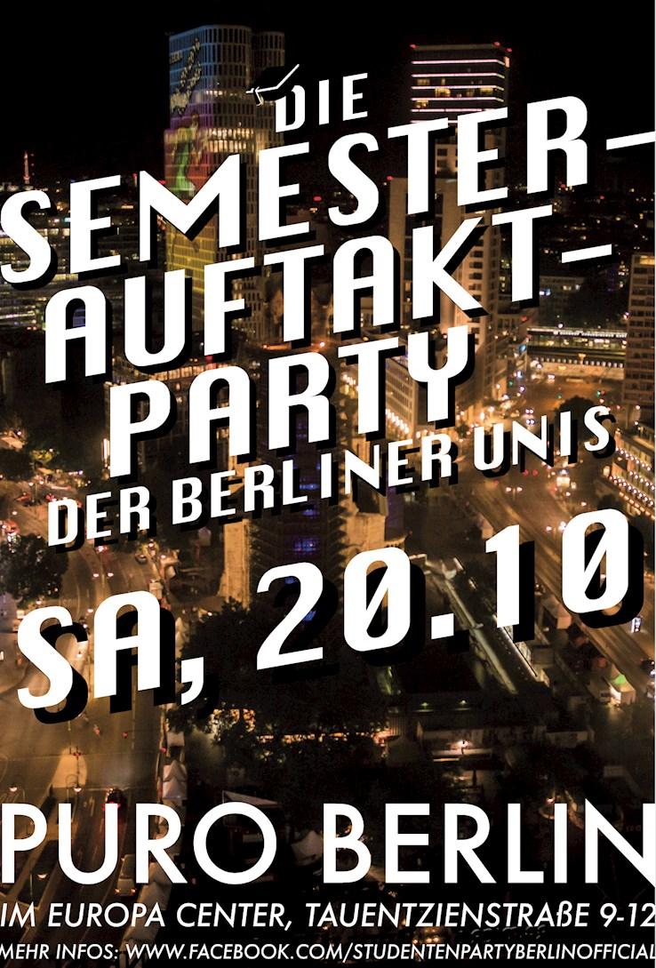 Puro 20.10.2018 Die Semesterauftakt Party der Berliner Unis