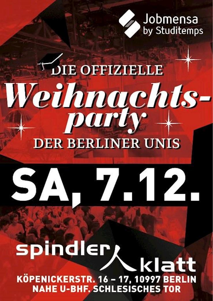 Spindler & Klatt 07.12.2019 Die offizielle Weihnachtsparty der Berliner Unis