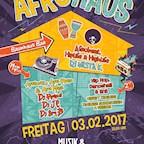 Musik & Frieden Berlin Afro Haus - Afrobeats, Hip Hop, Dancehall & Afro Food Corner auf 3 Floors