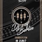 Bricks Berlin Any Given Thursday Ohboy! presents DJ's of Berlin Soundsystem
