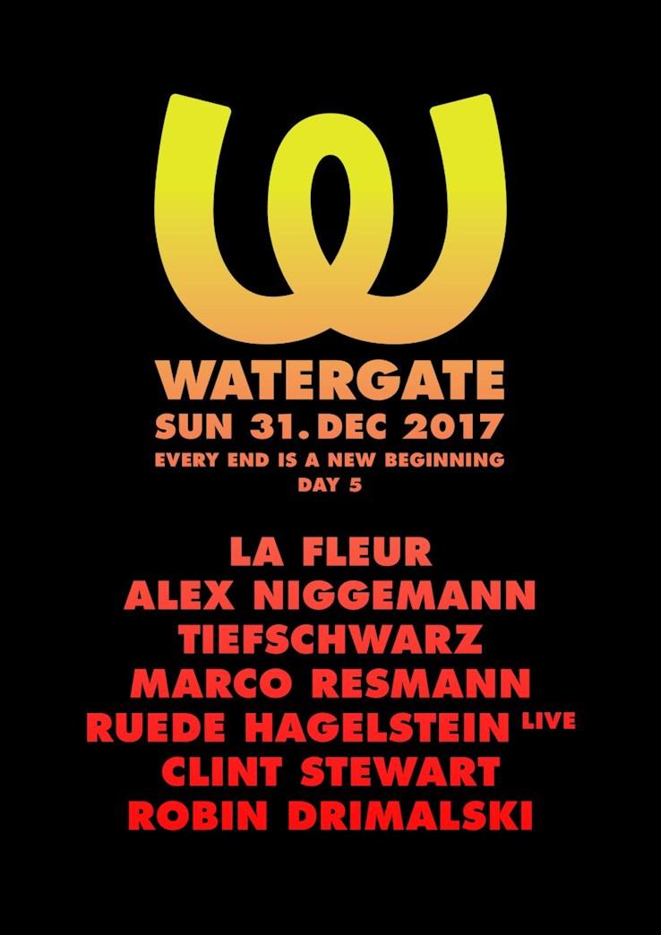 Watergate Berlin Eventflyer #1 vom 31.12.2017