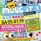 Kesselhaus Berlin 8 Jahre Move iT! – die 90er Party mit Special Guest Mola Adebisi  und DJ Guess & Friends
