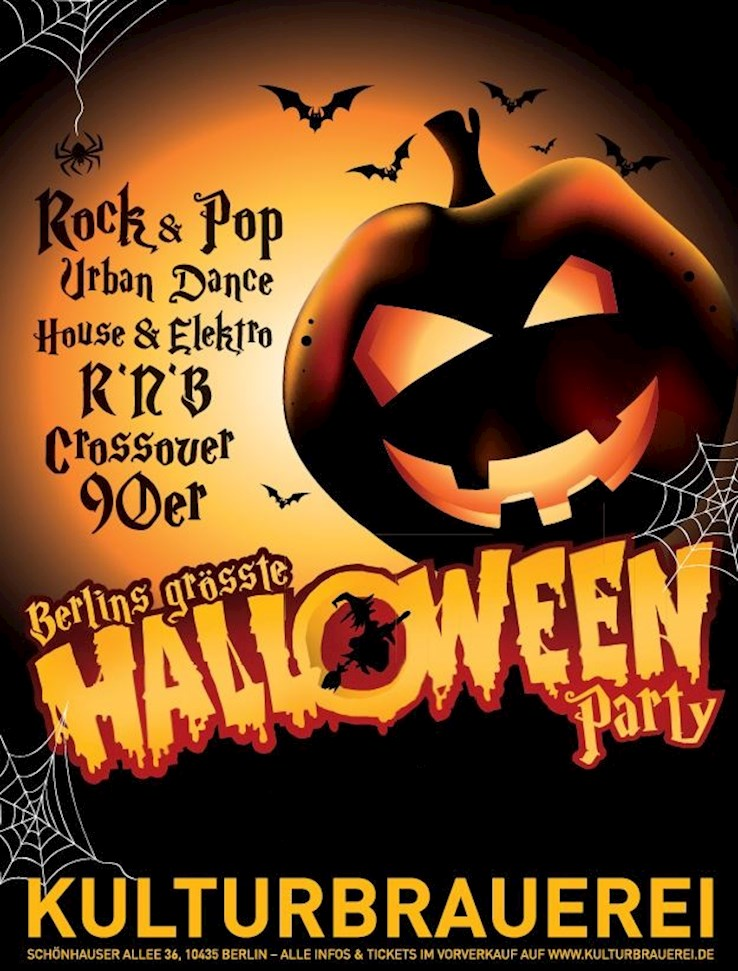 Kulturbrauerei 27.10.2017 Halloween in der Kulturbrauerei - Berlins grösste Halloweenparty