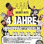 Musik & Frieden Berlin 4 Jahre Hip Hop Partys Berlin - 7 Live Acts, 9 DJs, 3 Floors