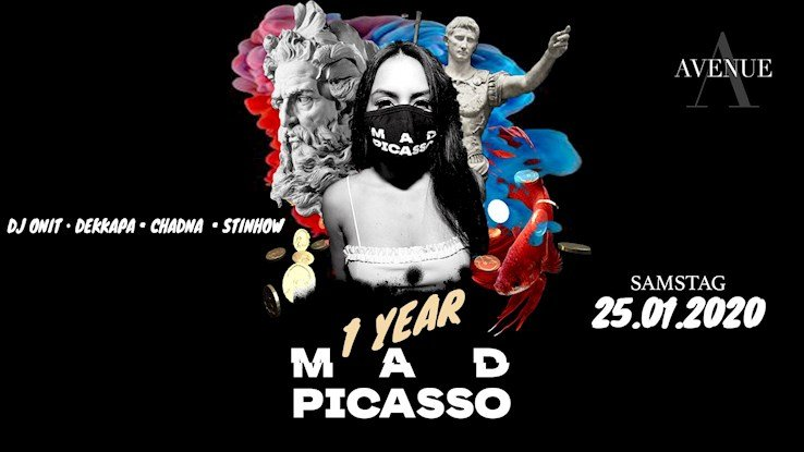 Avenue 25.01.2020 1 Year Mad Picasso - Party & Art - Hip Hop & Latin