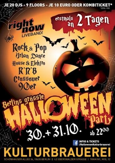 Kulturbrauerei Berlin Eventflyer #1 vom 30.10.2015