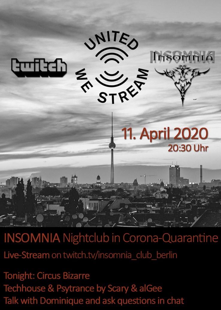 Insomnia Erotic Nightclub 11.04.2020 Circus Bizarre - Live Stream