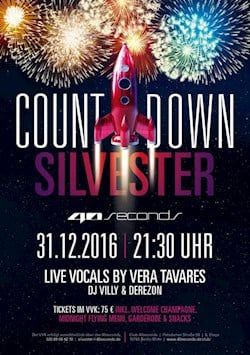 40seconds Berlin Countdown New Year's Eve 2016 / 2017