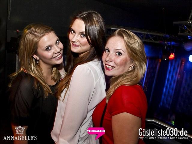 https://www.gaesteliste030.de/Partyfoto #54 Annabelle's Berlin vom 09.11.2012