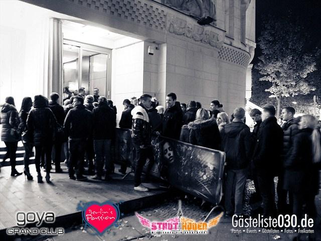 Partypics Goya 09.11.2012 Berlin's Passion meets StadtIkonen präs. Hauptstadt Schönheiten