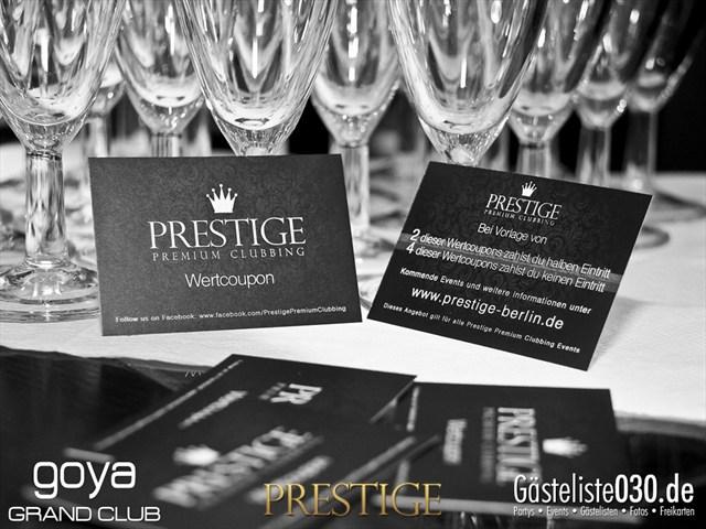 Partypics Goya 02.11.2012 Prestige - Premium Clubbing