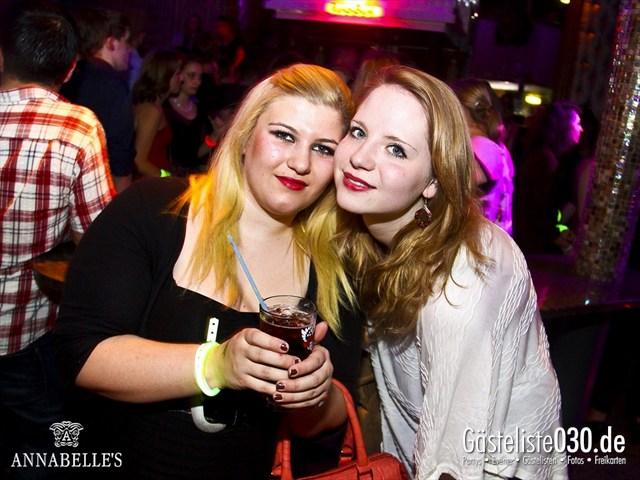 https://www.gaesteliste030.de/Partyfoto #122 Annabelle's Berlin vom 10.04.2012