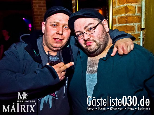 https://www.gaesteliste030.de/Partyfoto #40 Matrix Berlin vom 18.04.2012
