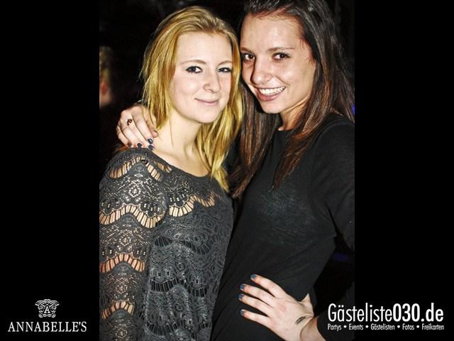 https://www.gaesteliste030.de/Partyfoto #64 Annabelle's Berlin vom 13.04.2012