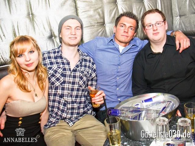 https://www.gaesteliste030.de/Partyfoto #74 Annabelle's Berlin vom 08.04.2012