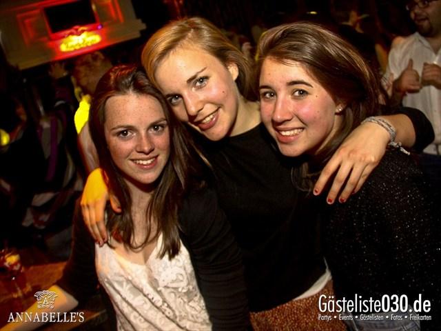 https://www.gaesteliste030.de/Partyfoto #101 Annabelle's Berlin vom 09.04.2012