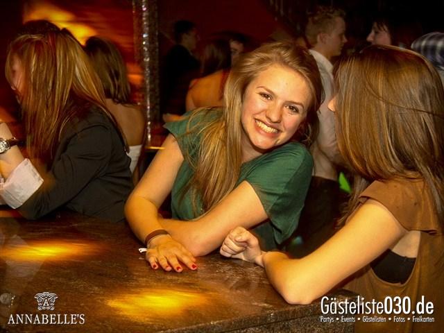 https://www.gaesteliste030.de/Partyfoto #95 Annabelle's Berlin vom 09.04.2012