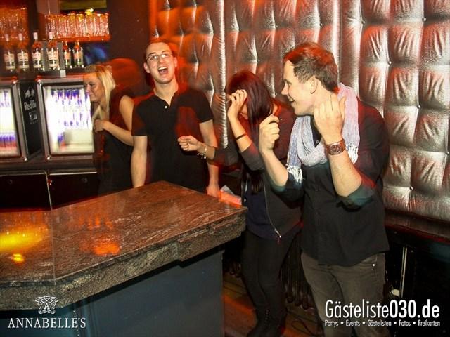 https://www.gaesteliste030.de/Partyfoto #91 Annabelle's Berlin vom 09.04.2012